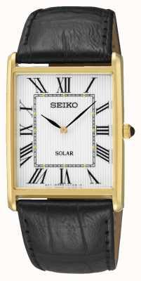 Seiko Rechteckiges Goldgehäuse für Herren mit rechteckigem Zifferblatt SUP880P1