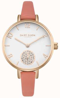 Daisy Dixon Frauen Alice Kristall Set Subdial rosa Lederband DD075ORG