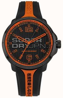Superdry Männer kyoto orange und schwarz Silikonarmband SYG216BO