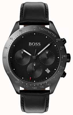 Hugo Boss Talent Chronograph schwarzes Zifferblatt Datumsanzeige aus schwarzem Leder 1513590