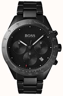 Boss Mens Talent schwarzes Zifferblatt Datumsanzeige schwarz ip Armband 1513581