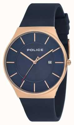 Police Mens New Horizon Watch Silikonband blau 15045JBCR/03P