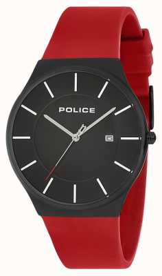 Police Herren New Horizon Silikonarmband rot 15045JBCB/02PB