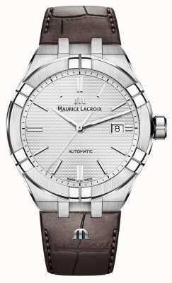 Maurice Lacroix Aikon automatische braune Lederuhr AI6008-SS001-130-1
