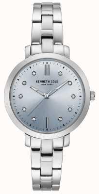Kenneth Cole Damen-Edelstahlgehäuse und -armbanduhr KC15173004