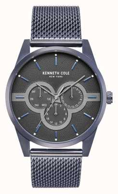 Kenneth Cole Mens Edelstahlgehäuse mit Edelstahl-Mesh-Armband KC15205003
