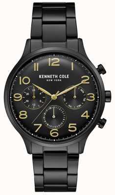 Kenneth Cole Herren schwarz PVD Chronograph zu sehen KC15185001