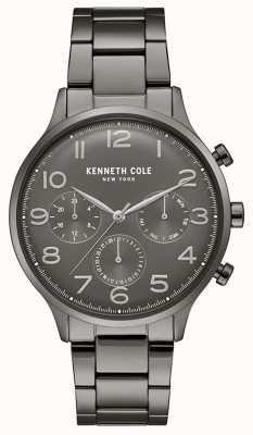 Kenneth Cole Herren Gunmetal PVD überzogene Chronograph Uhr KC15185002