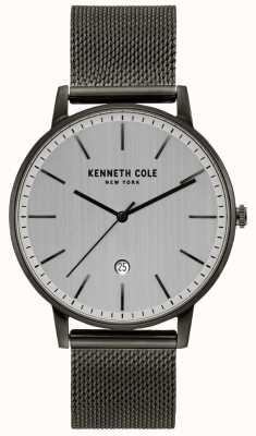 Kenneth Cole Klassische Gunmetal-Edelstahl-Mesh-Uhr KC50009003
