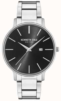 Kenneth Cole Edelstahl schwarz Zifferblatt mit Datumsanzeige KC15059002