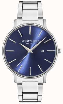 Kenneth Cole Edelstahluhr mit blauem Zifferblatt KC15059003
