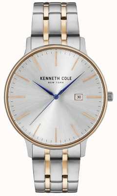 Kenneth Cole Silberne und roségoldene Uhr aus Edelstahl KC15095003