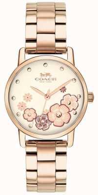 Coach Womens Grand Rose vergoldete Uhr 14503057