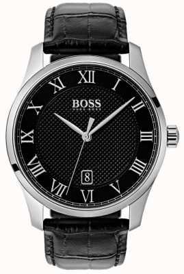 BOSS Meister | schwarzes Zifferblatt | schwarzes Lederband 1513585