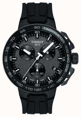 Tissot Herren T-Race Chronograph mit schwarzem Silikonarmband T1114173744103