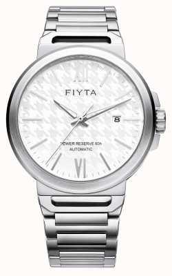 FIYTA Solo automatische Edelstahl weißes Zifferblatt Saphir GA852000.WWW