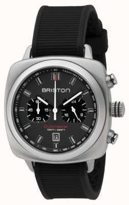 Briston Clubmaster Sport schwarz Gummi grau mattes Zifferblatt 16142.S.SP.17.RB