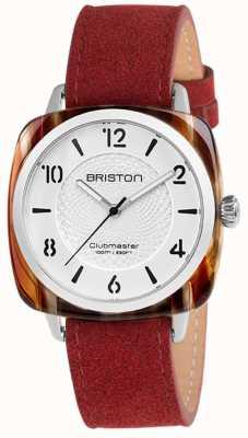 Briston Clubmaster schickes rotes Band weißes Zifferblatt 18536.SA.RE.2G.LNR