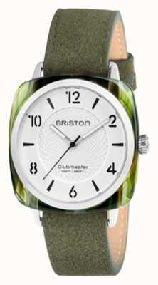 Briston Clubmaster schicke weiße Zifferblatt grün Band 18536.SA.GE.2G.LNGA