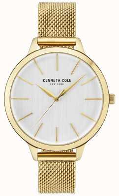 Kenneth Cole Goldfarbenes Armband für Damen aus Gold mit weißem Zifferblatt KC15056011