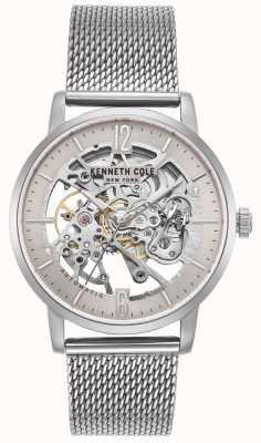 Kenneth Cole Herren Edelstahlgehäuse Skelett Zifferblatt Mesh-Armband KC50054006