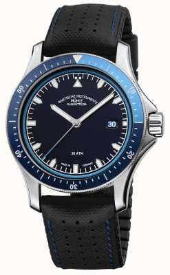 Muhle Glashutte Promare go blaues Zifferblatt schwarz Leder / Kautschukband M1-42-32-NB