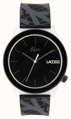 Lacoste Unisex Bewegungsuhr schwarz und grau Kautschukband 2010937