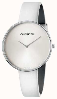 Calvin Klein Weiße Damenuhr aus weißem Leder K8Y231L6
