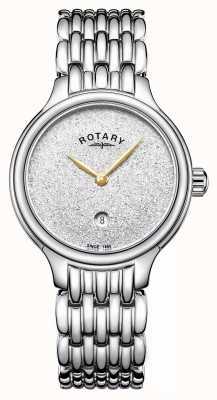 Rotary Glitzer-Ziffernblatt aus Edelstahl für Damen LB00405/33