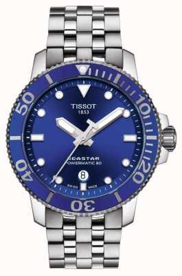 Tissot Seastar 1000 powermatic 80 blau Zifferblatt aus Edelstahl T1204071104100