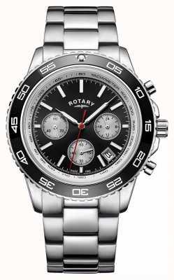 Rotary Men's Chronograph Datumsanzeige Tachymeter Edelstahl GB00410/04
