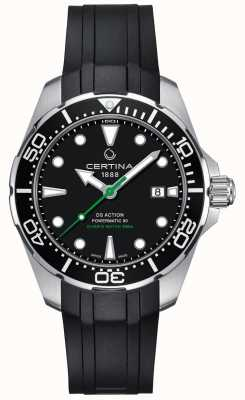 Certina Herren ds action diver powermatic 80 automatisches Kautschukband C0324071705100