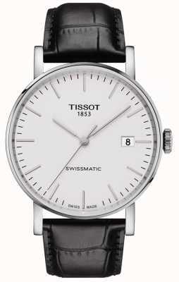 Tissot Herren swissmatic automatisches schwarzes Lederarmband T1094071603100