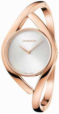 Calvin Klein Rosen- und Silberparty-Edelstahlarmband K8U2S616
