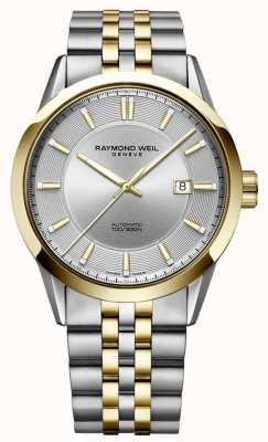 Raymond Weil Freelancer automatische Zwei-Ton-Armband Silber Zifferblatt 2731-STP-65001