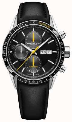 Raymond Weil Freelancer Automatik Chronograph schwarz Lederarmband 7731-SC1-20121