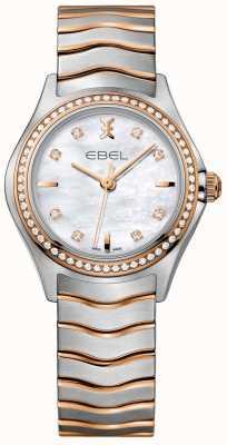 EBEL Damen Diamant Wellen Perlmutt Zifferblatt zweifarbig Armband 1216325