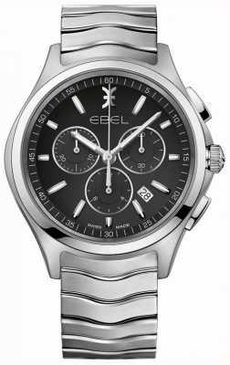 EBEL Herren Chronograph schwarzes Zifferblatt Edelstahl Silbergehäuse 1216342