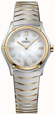 EBEL Damen Sport klassisches Diamant Perlmutt Zifferblatt zweifarbig 1216388A