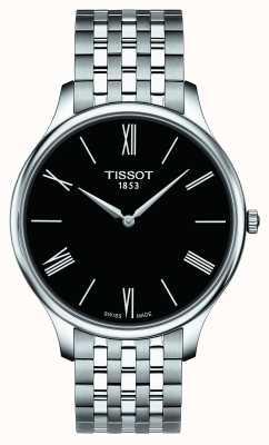 Tissot Herren Tradition Edelstahl Armband schwarz Zifferblatt T0634091105800