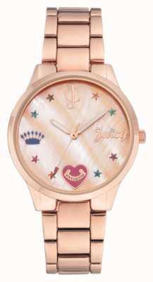 Juicy Couture (keine Box) Damen Roségold Ton Armbanduhr JC-1016RMRG