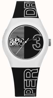 Superdry Urban Fusion schwarz-weiß gedruckten Zifferblatt und Armband SYL239BW