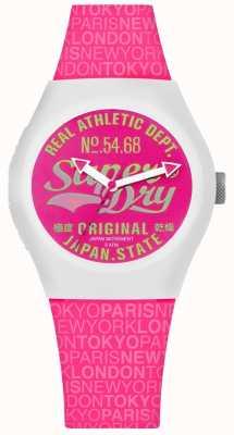 Superdry Urban Paradise rosa Zifferblatt und Armband SYL249P