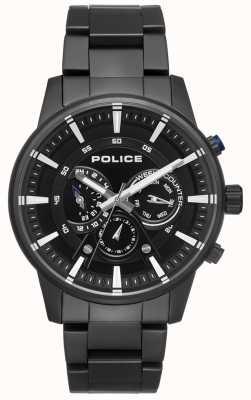 Police Mens Smart Style schwarz Armband schwarzes Zifferblatt PL.15523JSB/02M