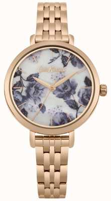Cath Kidston Damenarmband mit goldfarbenem Armband und Mohndruck CKL060RGM