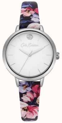Cath Kidston Damenuhr mit floralem Blumenmuster in Weiß CKL064U