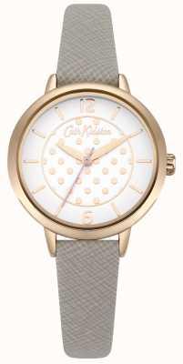 Cath Kidston Graues Armband aus Saffianeglas mit Polka-Dot-Print CKL065ERG