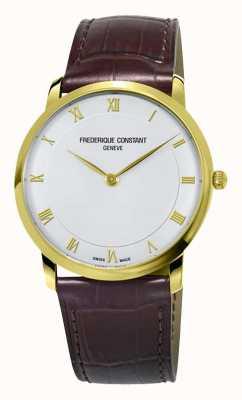 Frederique Constant Herren Quarz Slimline vergoldetes Gehäuse FC-200RS5S35