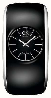 Calvin Klein Gloss Womens ganz schwarz kleine Uhr K6095101