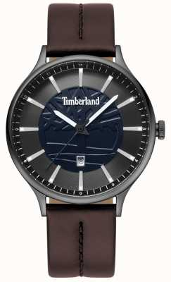 Timberland Herrenarmbanduhr aus braunem Lederarmband in Blau TBL.15488JSU/03